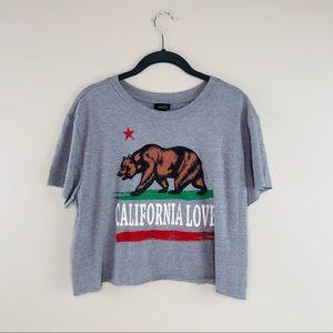 "Rue21 ""California Love"" Cropped Tee Shirt"